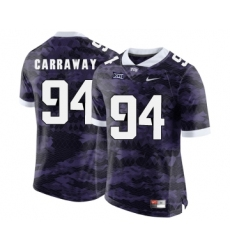 TCU Horned Frogs 94 Josh Carraway Purple College Football Limited Jersey