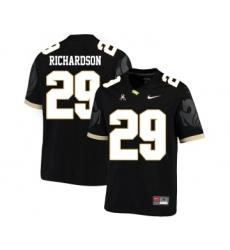 UCF Knights 29 Cordarrian Richardson Black College Football Jersey