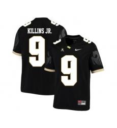 UCF Knights 9 Adrian Killins Jr. Black College Football Jersey