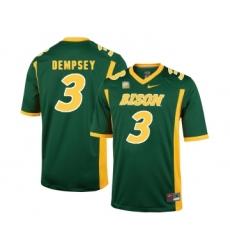 North Dakota State Bison 3 Tre Dempsey Green College Football Jersey