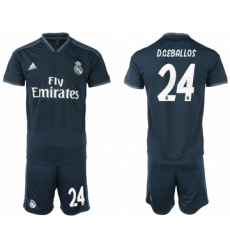 2018-19 Real Madrid 24 D.CEBALLOS Away Soccer Jersey