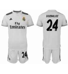 2018-19 Real Madrid 24 D.CEBALLOS Home Soccer Jersey