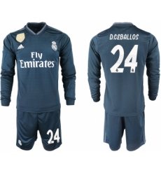 2018-19 Real Madrid 24 D.CEBALLOS Away Long Sleeve Soccer Jersey