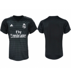 2018-19 Real Madrid Black Goalkeeper Soccer Jersey