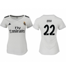 2018-19 Real Madrid 22 ISCO Home Women Soccer Jersey
