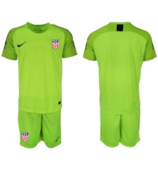 2018-19 USA Fluorescent Green Goalkeeper Soccer Jersey
