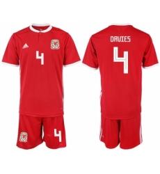 2018-19 Welsh 4 DAVIES Home Soccer Jersey