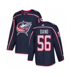 Men's Columbus Blue Jackets #56 Marko Dano Authentic Navy Blue Home Hockey Jersey