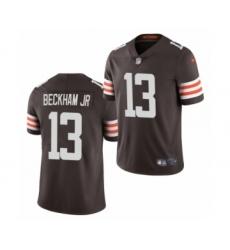 Cleveland Browns #13 Odell Beckham Jr Brown 2020 Vapor Limited Jersey
