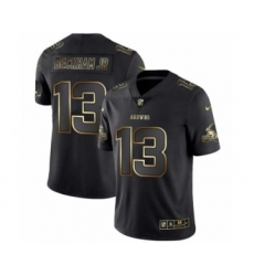 Men Cleveland Browns #13 Odell Beckham Jr Black Golden Edition 2019 Vapor Untouchable Limited Jersey