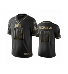 Men's Cleveland Browns #13 Odell Beckham Jr. Limited Black Golden Edition Football Jersey