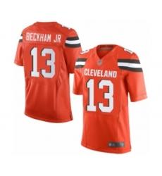 Men's Odell Beckham Jr. Elite Orange Nike Jersey NFL Cleveland Browns #13 Alternate