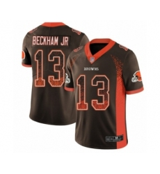 Youth Odell Beckham Jr. Limited Brown Nike Jersey NFL Cleveland Browns #13 Rush Drift Fashion