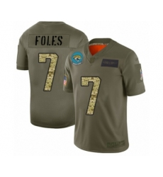 Men's Jacksonville Jaguars #7 Nick Foles Limited Olive Camo 2019 Salute to Service Football Jersey