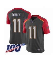 Youth Tampa Bay Buccaneers #11 Blaine Gabbert Limited Gray Inverted Legend 100th Season Football Jersey
