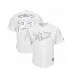 Men's Minnesota Twins #23 Nelson Cruz Authentic  Boomstick White 2019 Players Weekend Baseball Jersey