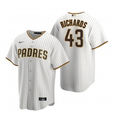Men's Nike San Diego Padres #43 Garrett Richards White Brown Home Stitched Baseball Jersey