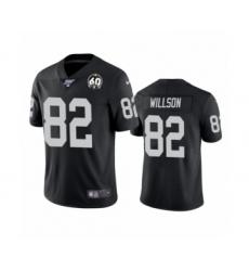 Men's Oakland Raiders #82 Luke Willson Black 60th Anniversary Vapor Untouchable Limited Player 100th Season Football Jersey