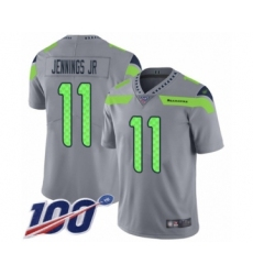 Youth Seattle Seahawks #11 Gary Jennings Jr. Limited Silver Inverted Legend 100th Season Football Jersey