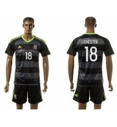 Wales #18 Chester Black Away Soccer Club Jersey