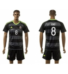 Wales #8 King Black Away Soccer Club Jersey