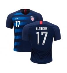 Women's USA #17 Altidore Away Soccer Country Jersey