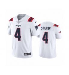 New England Patriots #4 Jarrett Stidham White 2020 Vapor Limited Jersey