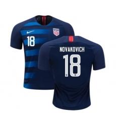 USA #18 Novakovich Away Kid Soccer Country Jersey