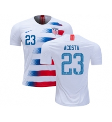 USA #23 Acosta Home Kid Soccer Country Jersey