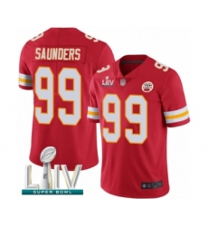 Men's Kansas City Chiefs #99 Khalen Saunders Red Team Color Vapor Untouchable Limited Player Super Bowl LIV Bound Football Jersey