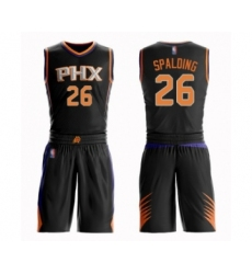 Men's Phoenix Suns #26 Ray Spalding Swingman Black Basketball Suit Jersey - Statement Edition
