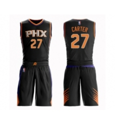 Men's Phoenix Suns #27 Jevon Carter Authentic Black Basketball Suit Jersey - Statement Edition