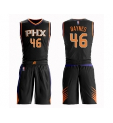 Men's Phoenix Suns #46 Aron Baynes Swingman Black Basketball Suit Jersey - Statement Edition
