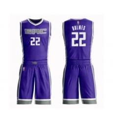 Men's Sacramento Kings #22 Richaun Holmes Swingman Purple Basketball Suit Jersey - Icon Edition