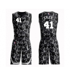 Men's San Antonio Spurs #41 Trey Lyles Swingman Camo Basketball Suit Jersey - City Edition