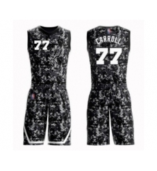 Men's San Antonio Spurs #77 DeMarre Carroll Swingman Camo Basketball Suit Jersey - City Edition