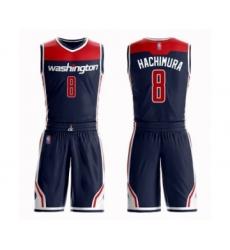 Men's Washington Wizards #8 Rui Hachimura Swingman Navy Blue Basketball Suit Jersey Statement Edition