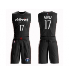 Men's Washington Wizards #17 Isaac Bonga Authentic Black Basketball Suit Jersey - City Edition