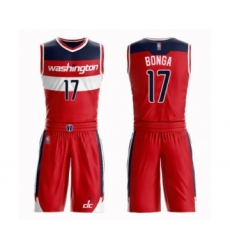 Men's Washington Wizards #17 Isaac Bonga Authentic Red Basketball Suit Jersey - Icon Edition