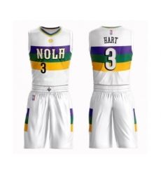 Men's New Orleans Pelicans #3 Josh Hart Swingman White Basketball Suit Jersey - City Edition