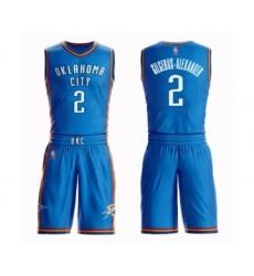 Men's Oklahoma City Thunder #2 Shai Gilgeous-Alexander Swingman Royal Blue Basketball Suit Jersey - Icon Edition