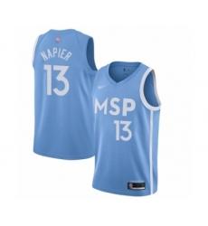 Men's Minnesota Timberwolves #13 Shabazz Napier Swingman Blue Basketball Jersey - 2019 20 City Edition