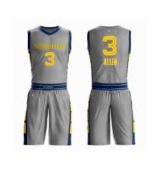 Men's Memphis Grizzlies #3 Grayson Allen Swingman Gray Basketball Suit Jersey - City Edition
