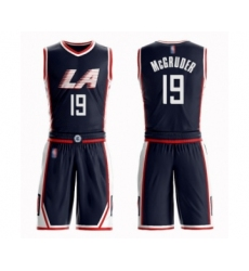 Men's Los Angeles Clippers #19 Rodney McGruder Swingman Navy Blue Basketball Suit Jersey - City Edition