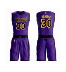 Women's Los Angeles Lakers #30 Troy Daniels Swingman Purple Basketball Suit Jersey - City Edition
