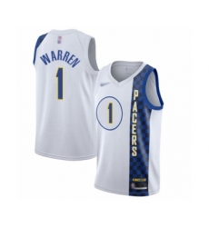 Men's Indiana Pacers #1 T.J. Warren Swingman White Basketball Jersey - 2019-20 City Edition