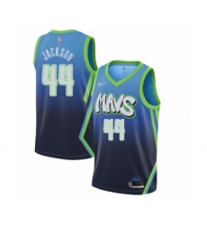 Men's Dallas Mavericks #44 Justin Jackson Swingman Blue Basketball Jersey - 2019-20 City Edition