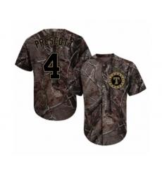 Men's Texas Rangers #4 Dak Prescott Authentic Camo Realtree Collection Flex Base Baseball Jersey