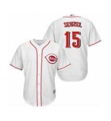 Youth Cincinnati Reds #15 Nick Senzel Authentic White Home Cool Base Baseball Jersey