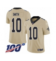 Youth New Orleans Saints #10 TreQuan Smith Limited Gold Inverted Legend 100th Season Football Jersey
